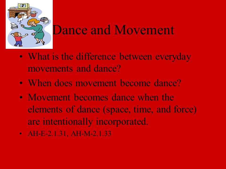 Dance and Movement What is the difference between everyday movements and dance.