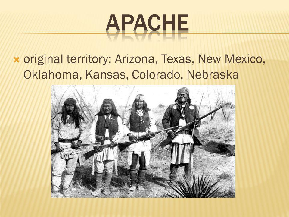  original territory: Arizona, Texas, New Mexico, Oklahoma, Kansas, Colorado, Nebraska
