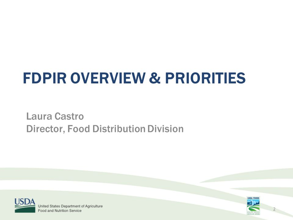 Recent Developments Implementation of final rule established parity between SNAP and FDPIR eligibility requirements Changes in SNAP Benefit Level from ARRA Sunset Impact: Participation National and Local Inventories Funding 3
