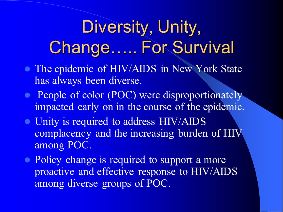 Global Epidemic AIDS is a global pandemic that is impacting the developing world and people of color most dramatically.