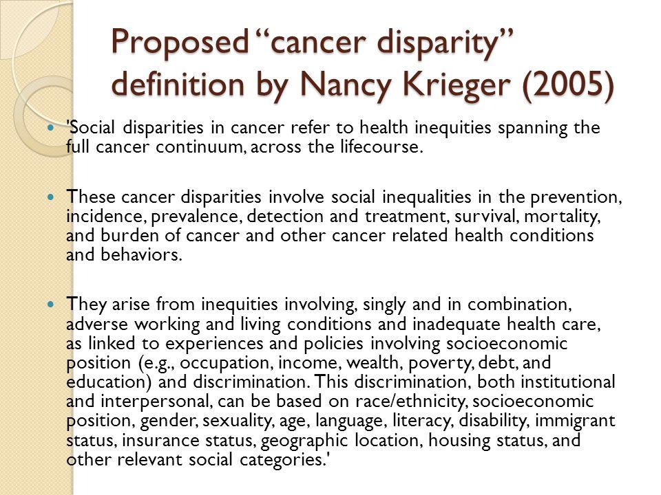Cancer disparities in the U.S.