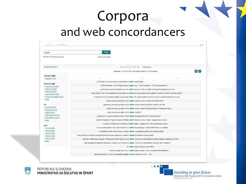 Corpora and web concordancers