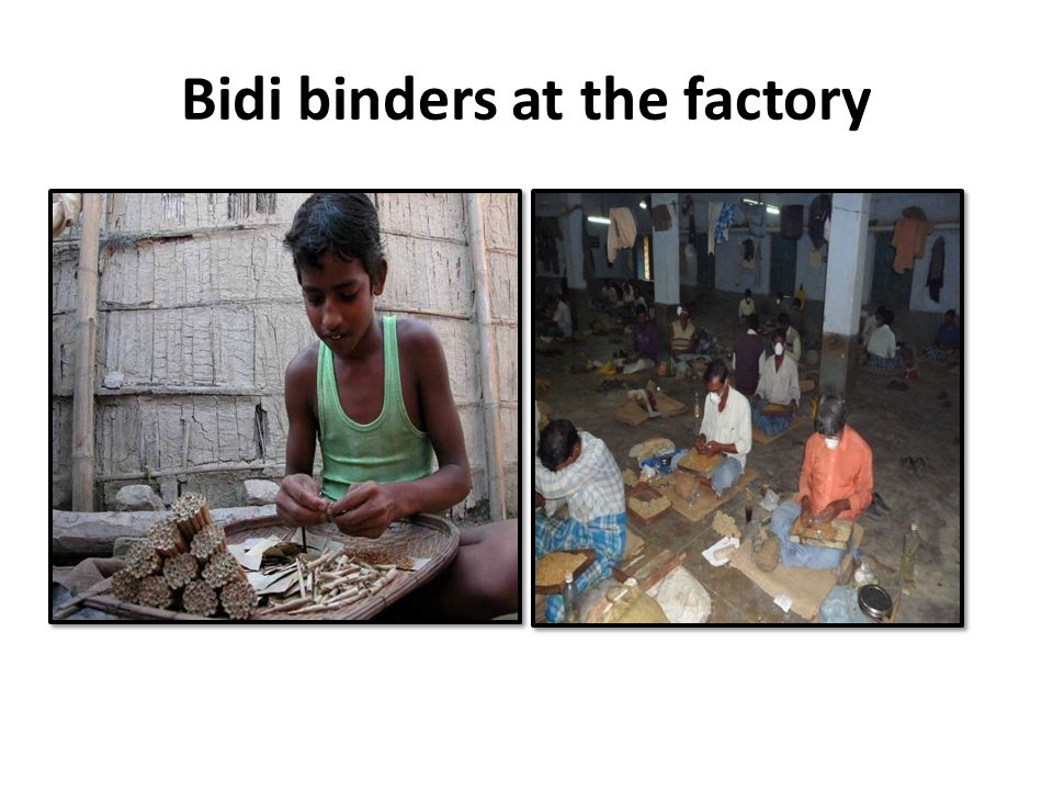 Bidi binders at the factory