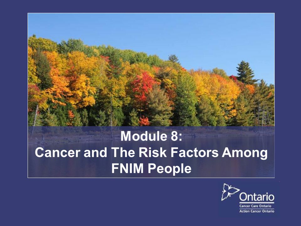 Cancer survival is worse for FNIM than for other Ontarians.