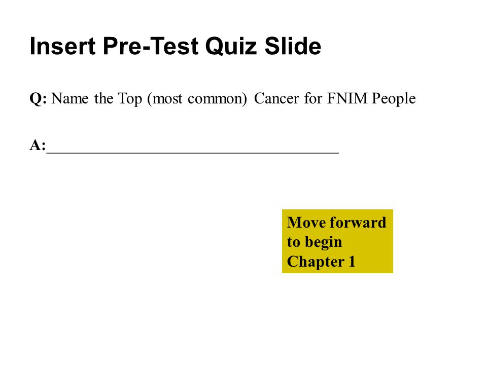 Placeholder for: Survivor Video Stories Move forward to begin the quiz for this chapter