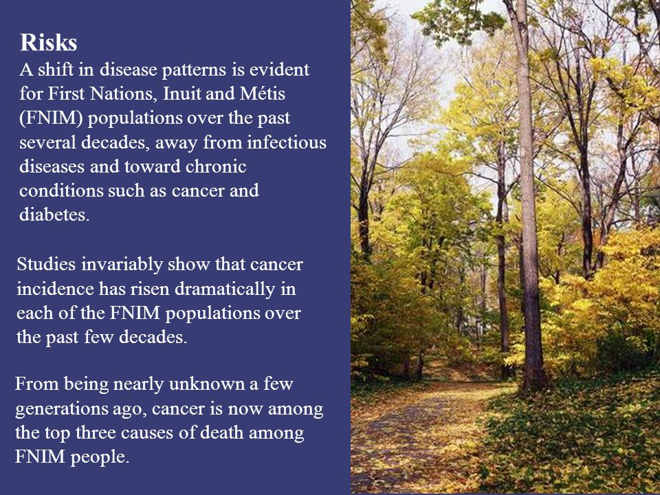 Personal Views of Cancer In some FNIM communities, cancer is a taboo subject surrounded in secrecy and fear.