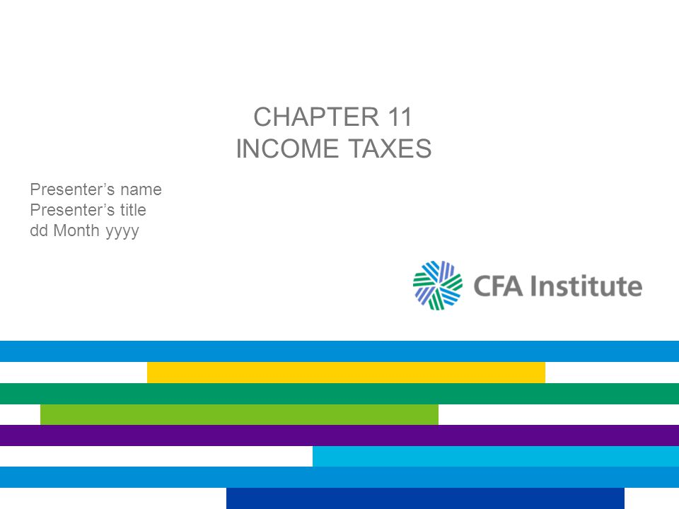 TAX RATE CHANGES: EXAMPLE Copyright © 2013 CFA Institute 12 (£ Millions)200620052004 Equipment value for accounting purposes (carrying amount)£14,000£16,000£18,000 Equipment value for tax purposes (tax base)11,42914,28617,143 Difference£2,571£1,714£857 × 30% = £257 £1,714 × 30% = £514 £2,571 × 30% = £771 Amount of deferred tax liability £2,571 × 25% = £643 Amount of deferred tax liability Assume that the taxing authority changed the income tax rate to 25% for 2006.