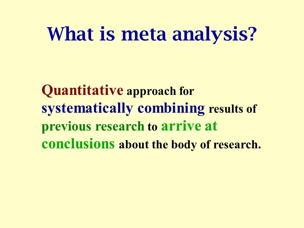 How to do Meta Analysis Arindam Basu Associate Director, Fogarty International Training Program Kolkata, India February, 2005 arin.basu@gmail.com phon