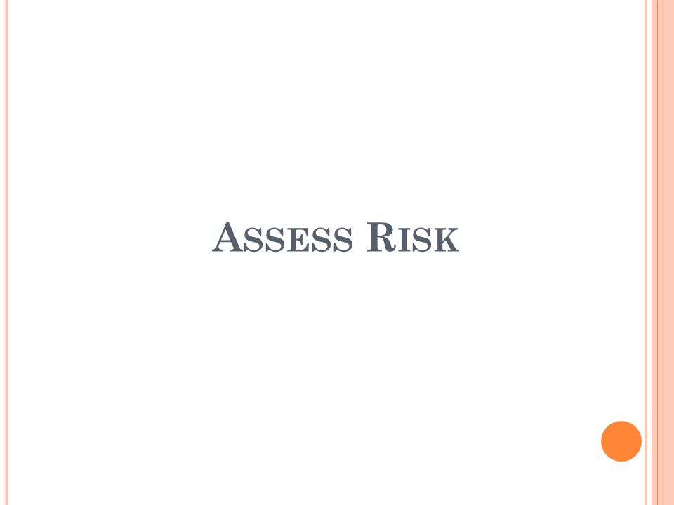 A SSESS R ISK