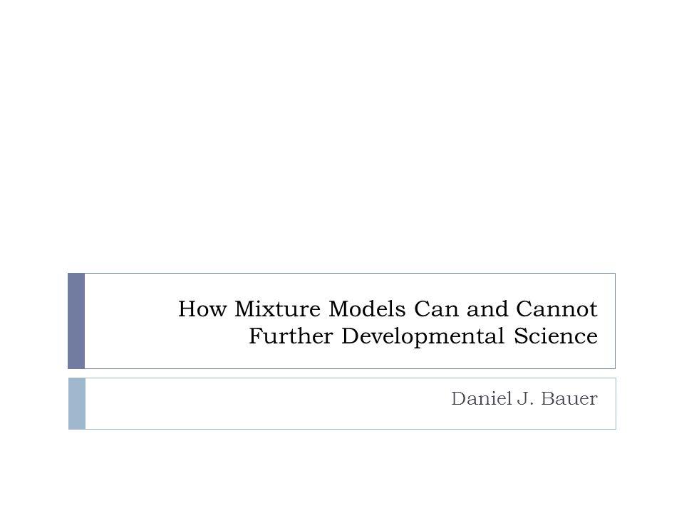 Function Recovery Bauer, Baldasaro & Gottfredson (in press) Quadratic Spline Exponential
