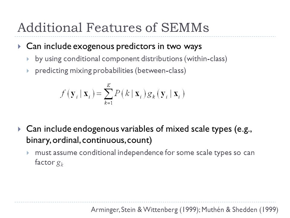 Example SEMM: Growth Mixture Model