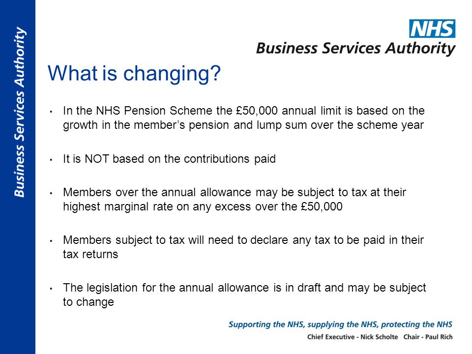 Who in the NHS could be affected.