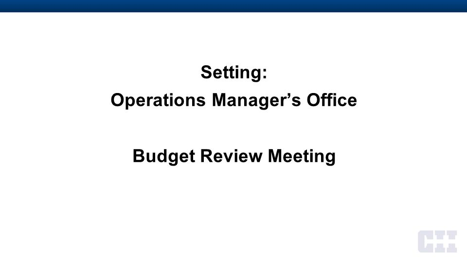 Setting: Manager of Projects' Office Business Development Request