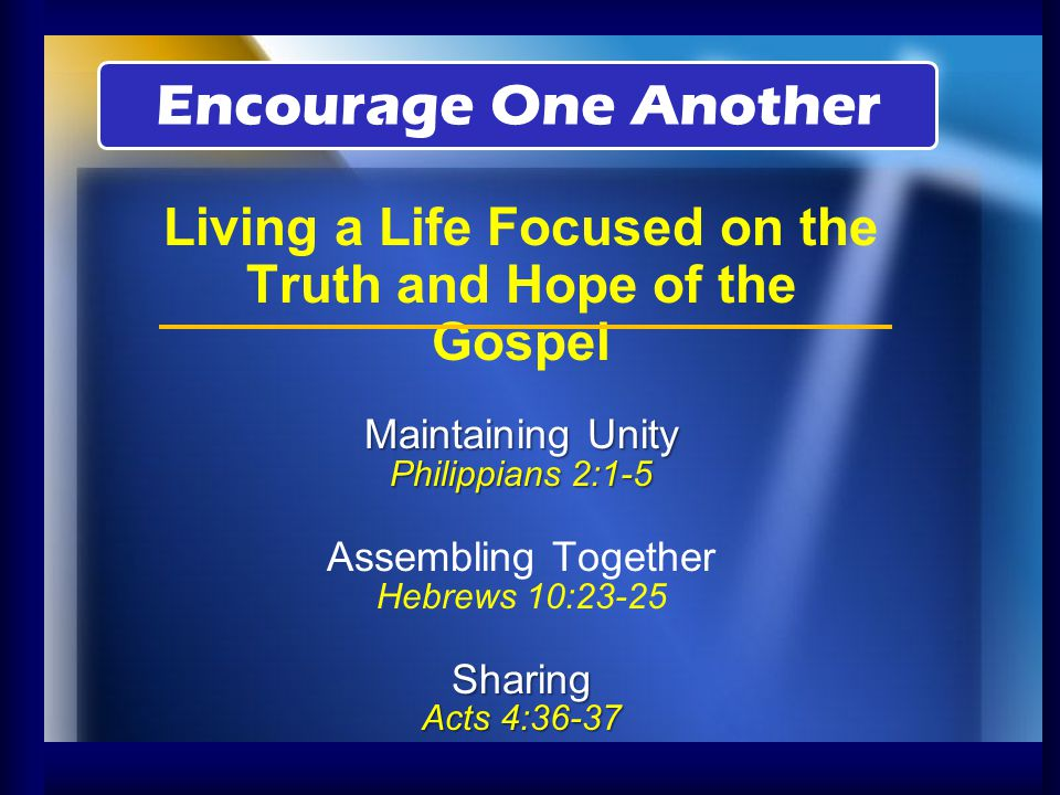 He Encouraged Saul When No One Else Trusted Him (Acts 9:26-28) He Encouraged Disciples to Stay True to God with a Resolute Heart (Acts 11:22-24) He Encouraged a More Talented Man to Join Him in the Work (Acts 11:25-26) Barnabas The Son of Encouragement (Acts 4:36-37) Encourage One Another