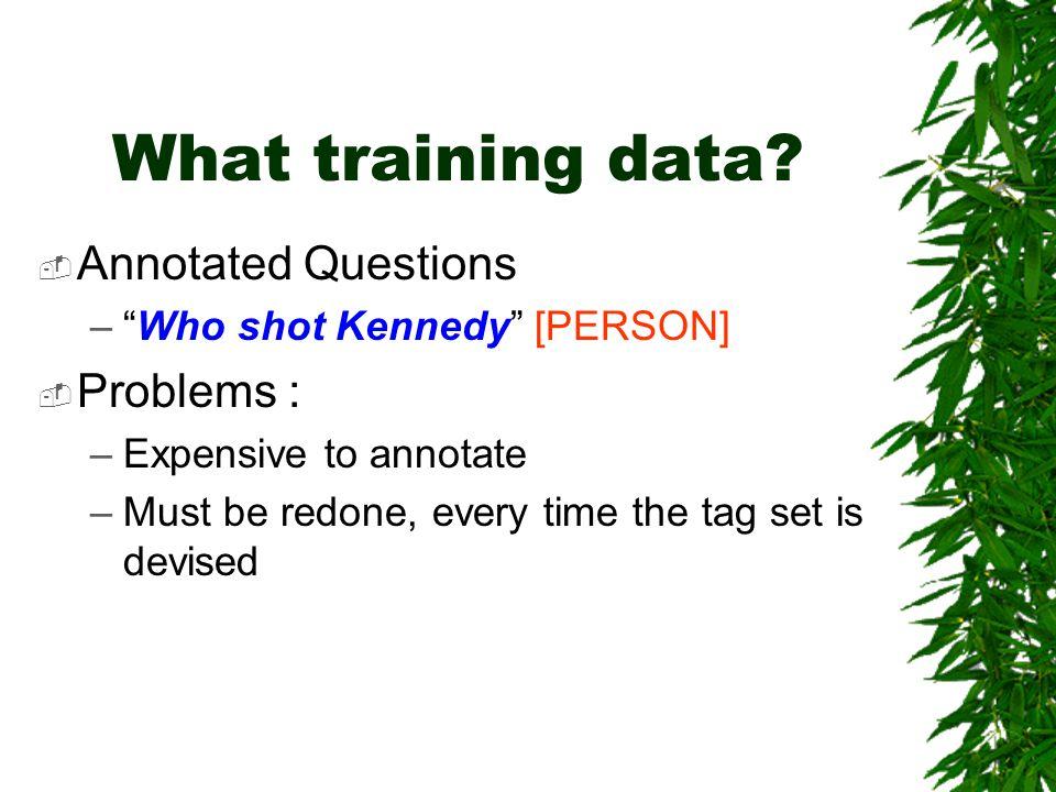 What training data.