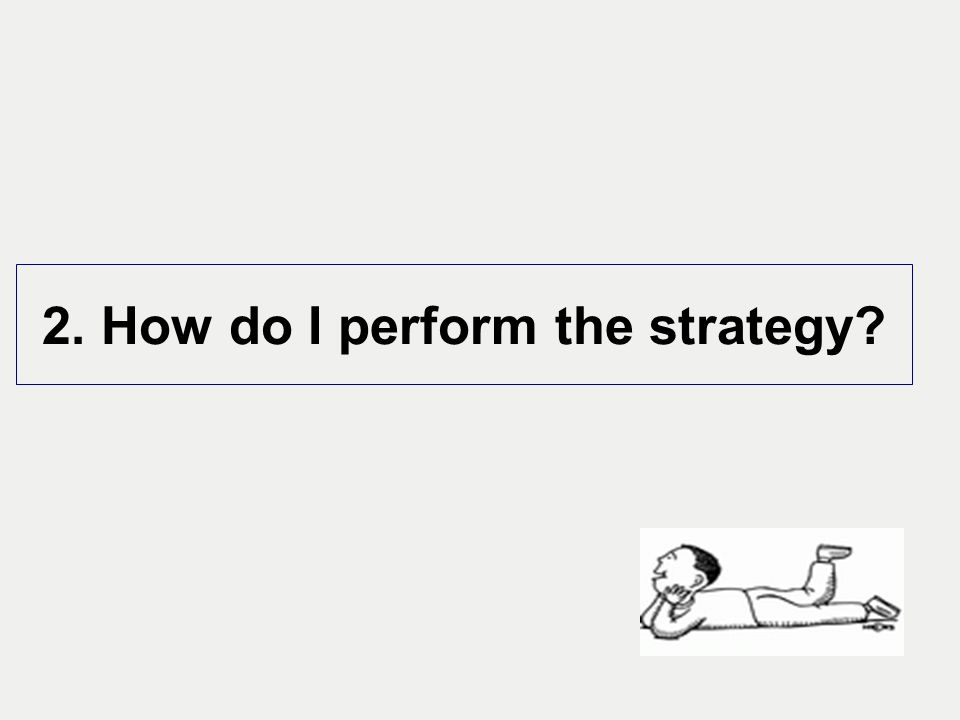 2. How do I perform the strategy?