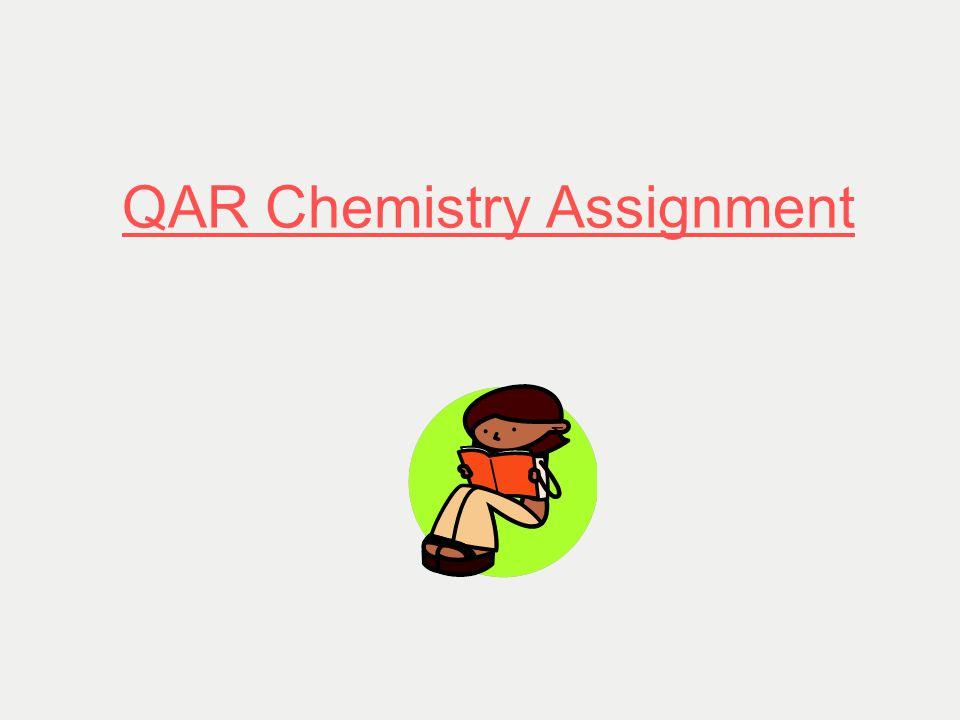 QAR Chemistry Assignment