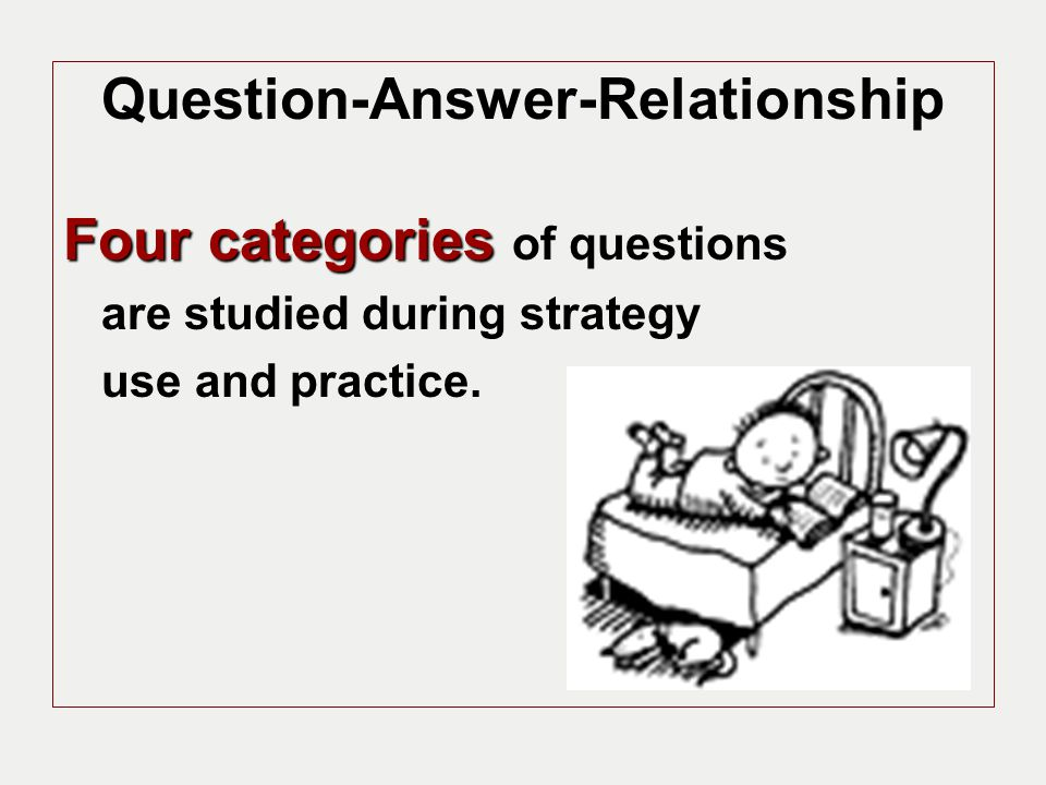 How Do you Use QAR.Begin by teaching the students the necessary vocabulary: Right There, etc.