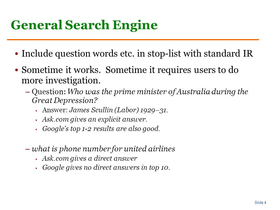 Slide 55 Answer Types Of course, it isn't that easy… –Who questions can have organizations as answers Who sells the most hybrid cars.