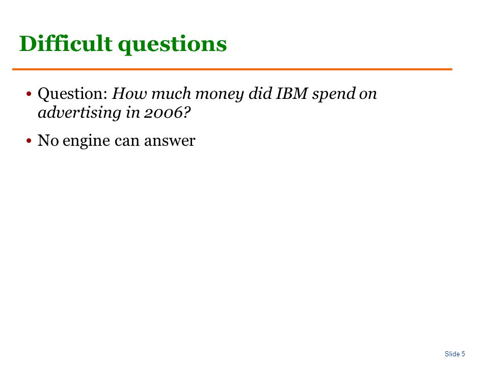 Slide 16 AskMSR: Shallow approach In what year did Abraham Lincoln die.