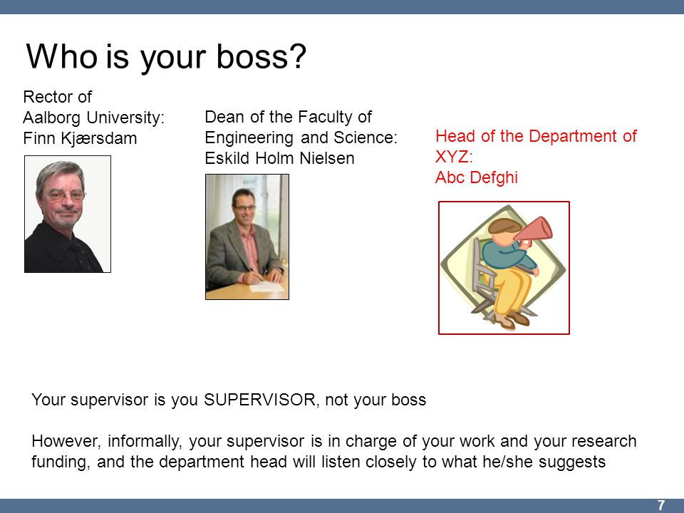 Who is your boss.