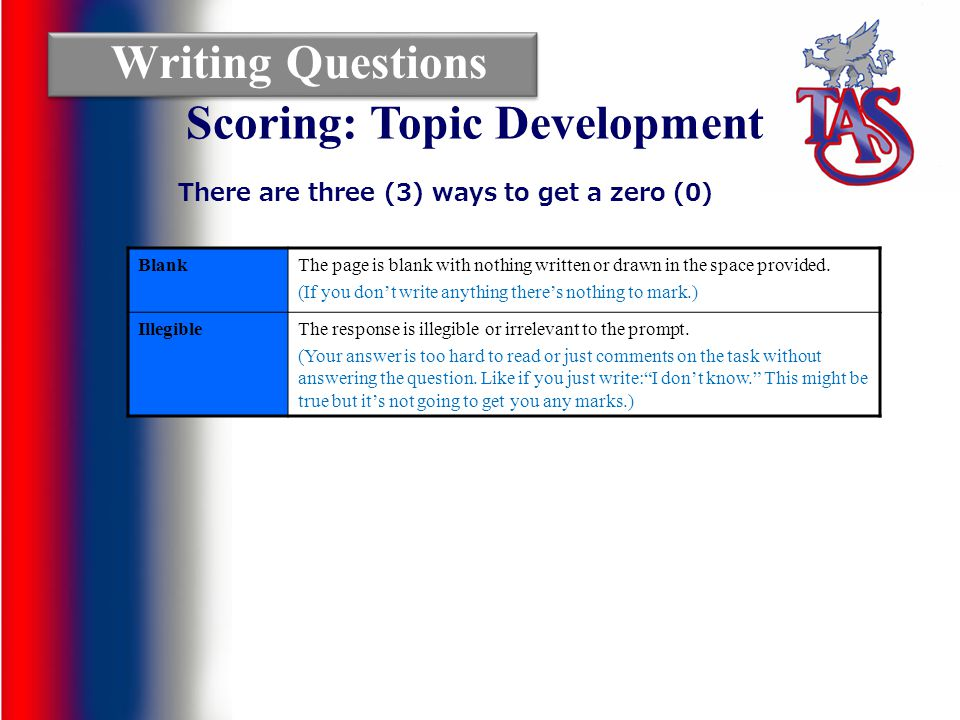 TAS OSSLT Guides: Thomas A Stewart OSSLT Guide How the test is marked and why this matters Reading Questions: Open Response Reading Questions: Multiple Choice Writing Questions: Series of Paragraphs Overview of the OSSLT Writing Questions: Open Response Short Writing How to prepare for the OSSLT Writing Questions: News Report