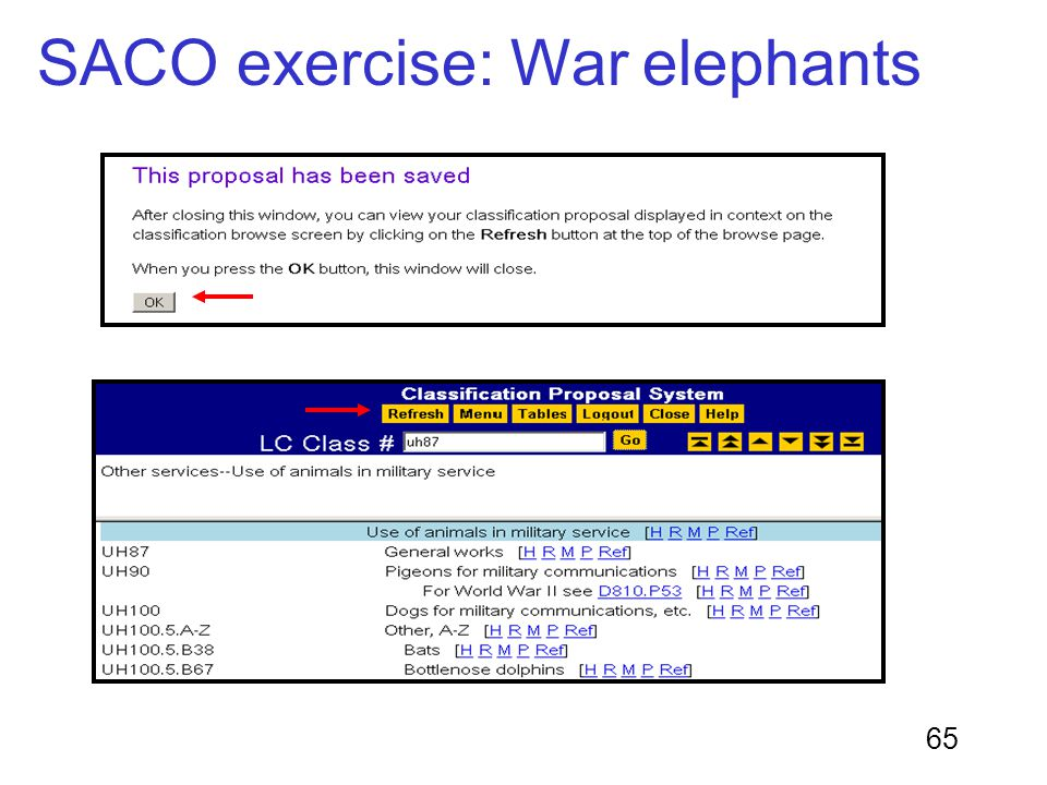 65 SACO exercise: War elephants