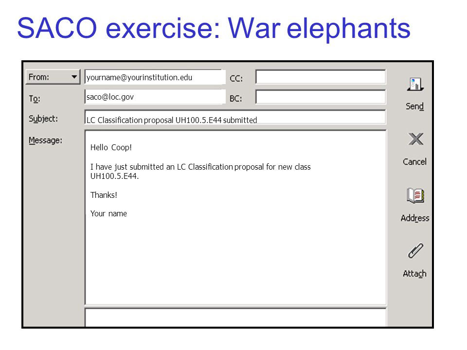 LC Classification proposal UH100.5.E44 submitted Hello Coop! I have just submitted an LC Classification proposal for new class UH100.5.E44. Thanks! Yo