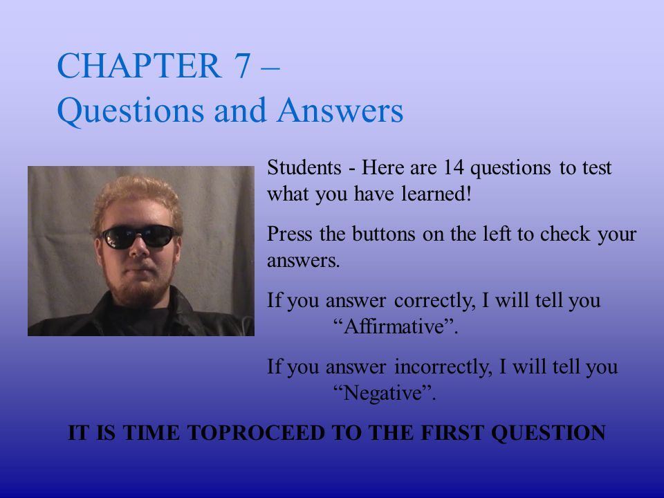 Question 11 - What is an identifiable event .A.