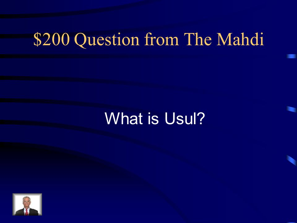 $200 Answer from The Mahdi Paul's secret troop name.