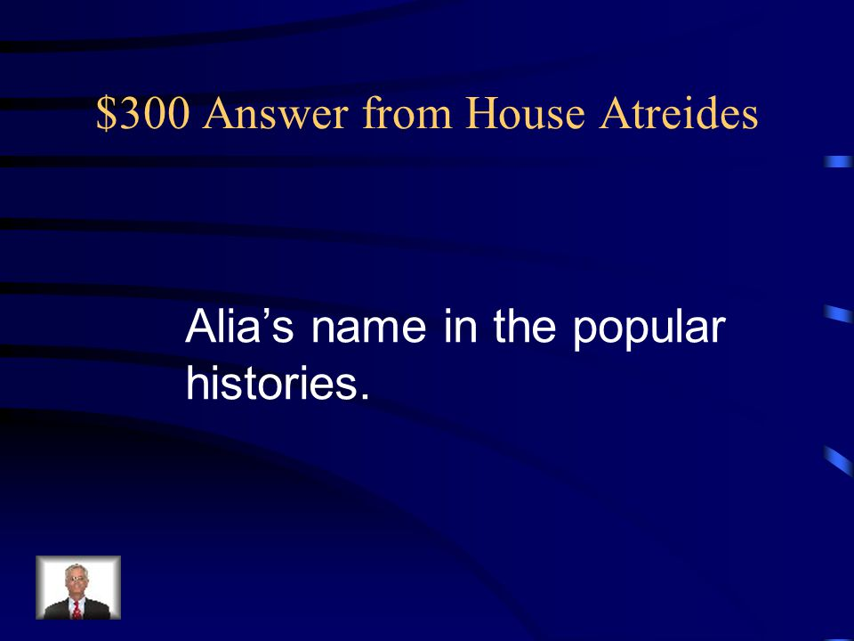 $300 Answer from House Harkonnen It's his punishment for an assassination attempt on the Baron.
