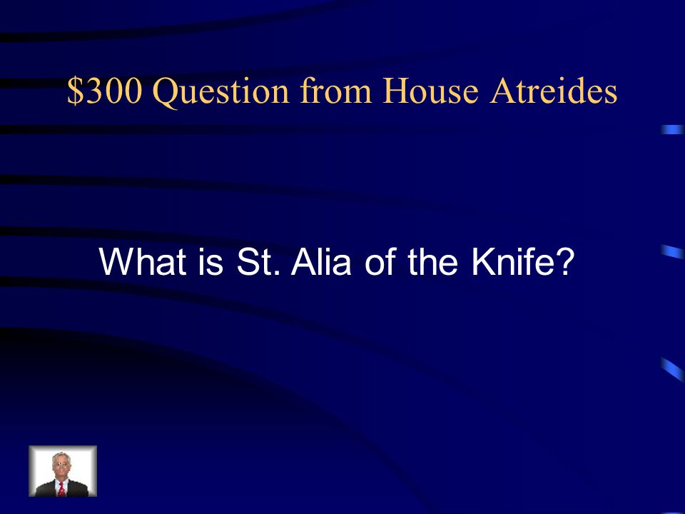 $300 Question from The Mahdi Who is Stilgar?