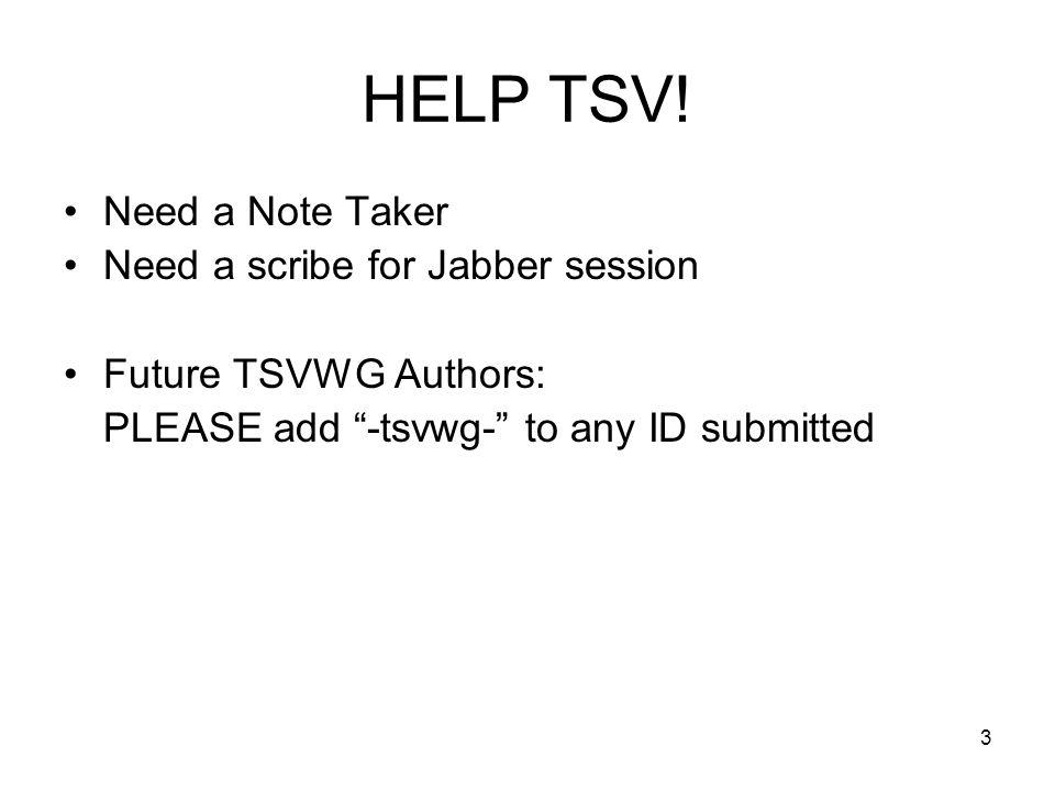 HELP TSV.