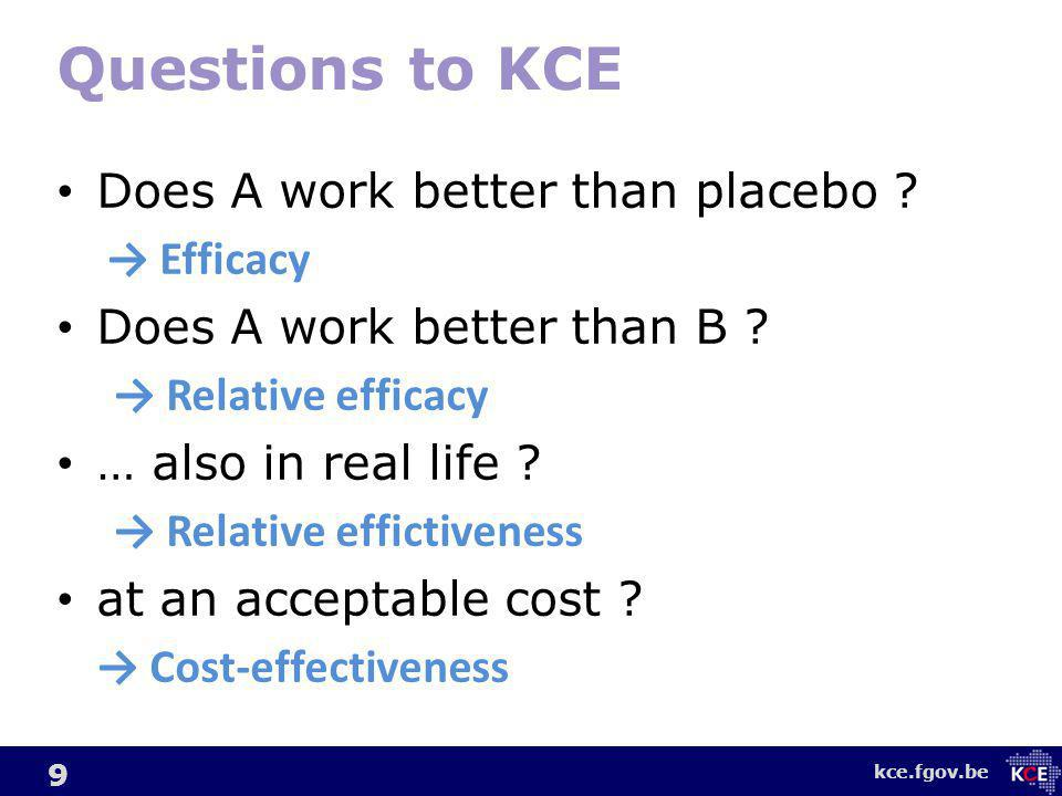 kce.fgov.be 20 Online version available at www.corehta.info Currently for EUnetHTA member agencies only