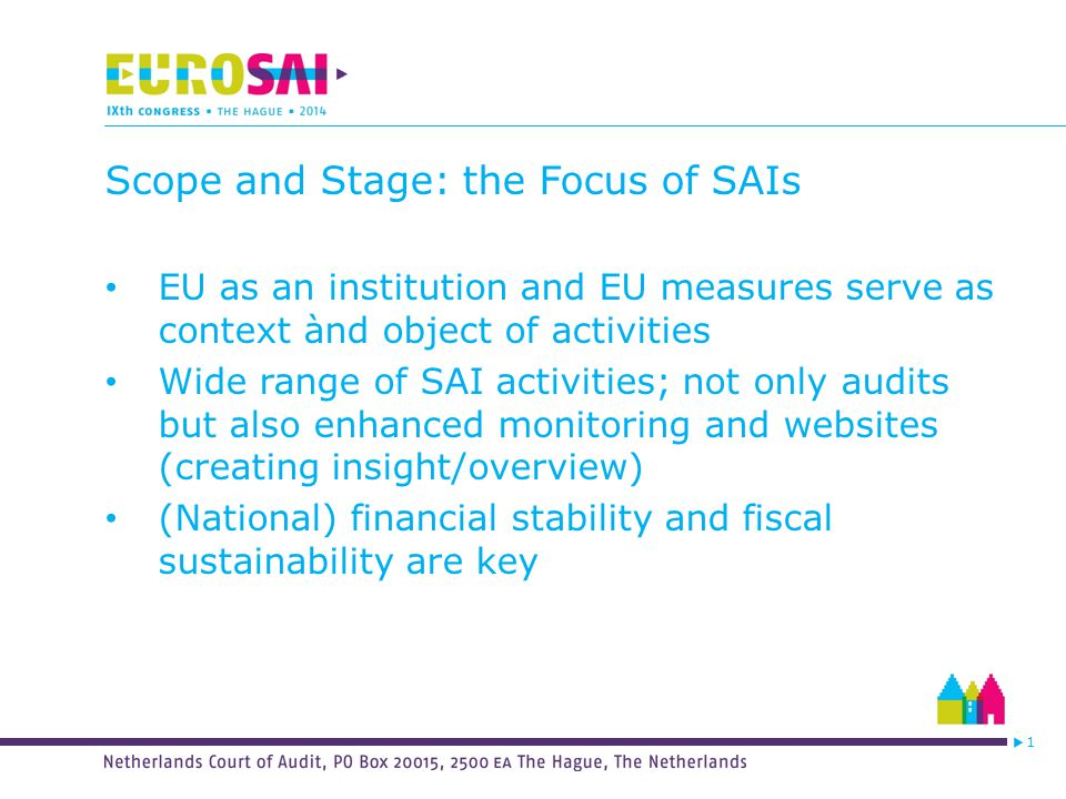 1 Scope & Stage: Different Aspects EU - Enhanced fiscal discipline - Banking Union - ESM & EFSF -Development monetary policy ECB Institutional aspects - Impact fiscal discipline c.a.