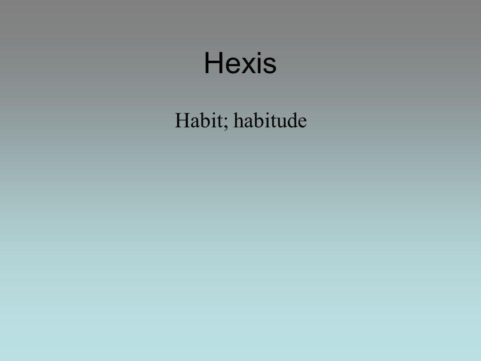 Habit; habitude