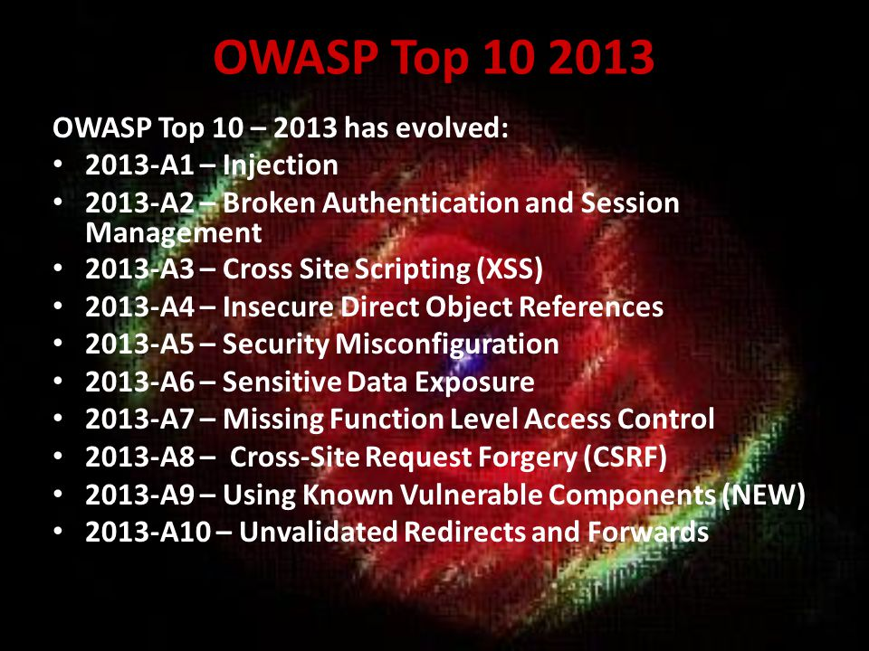 2013-A9 Using known Vulnerable Components A vendor offers DBAAS – Excellent: beat the market offering *AAS something...