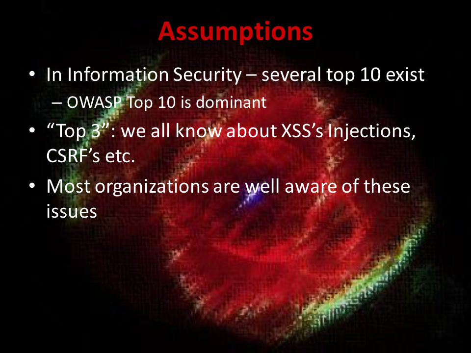 Common Solutions Superficial security tests.
