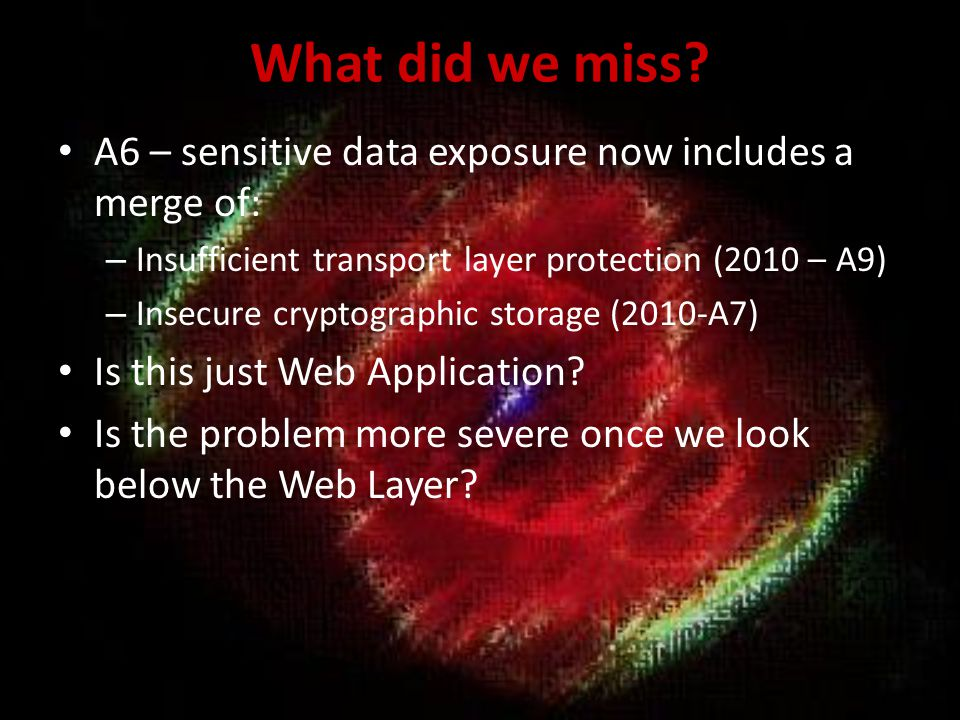 2013-A5 Security Misconfiguration There is no external access.
