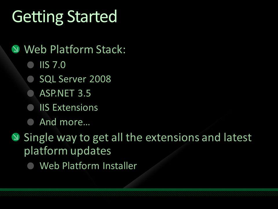 Download the Web Platform Stack