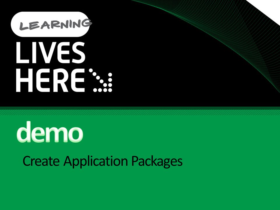 Create Application Packages
