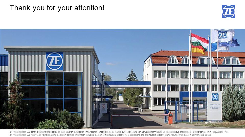 © ZF Friedrichshafen AG, 201492014T-Eger, ZF Hungária Kft. Bei Bedarf können Platzhalter für ein persönliches Bild und Referenteninfos über den Menüpu