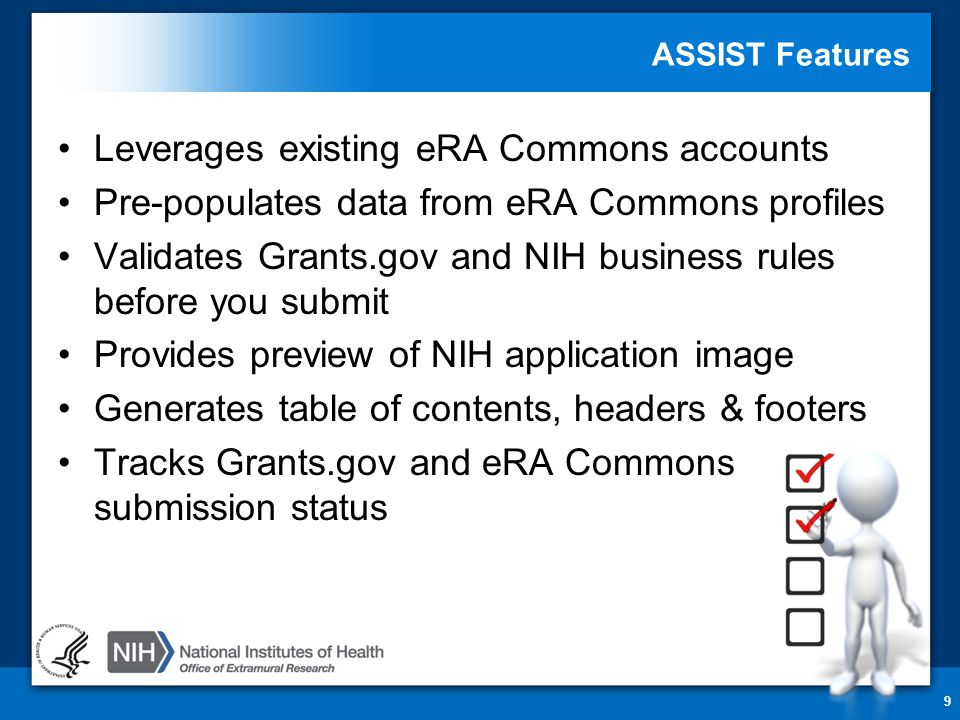 FOAs Link You to ASSIST 20 NIH Guide for Grants & Contracts Grants.gov 'Apply'
