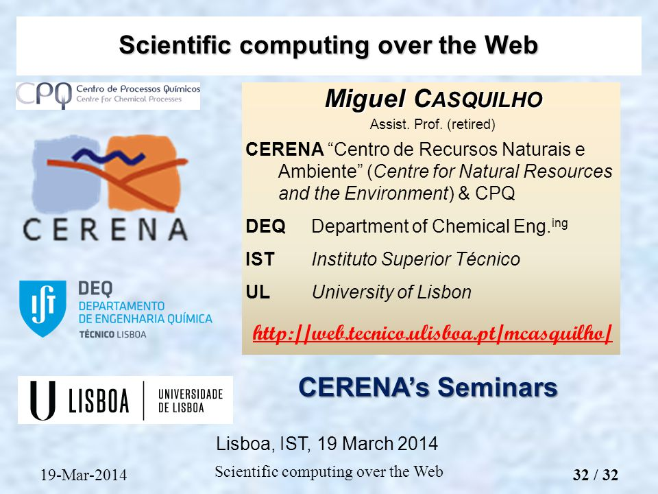 Miguel C ASQUILHO Assist. Prof.