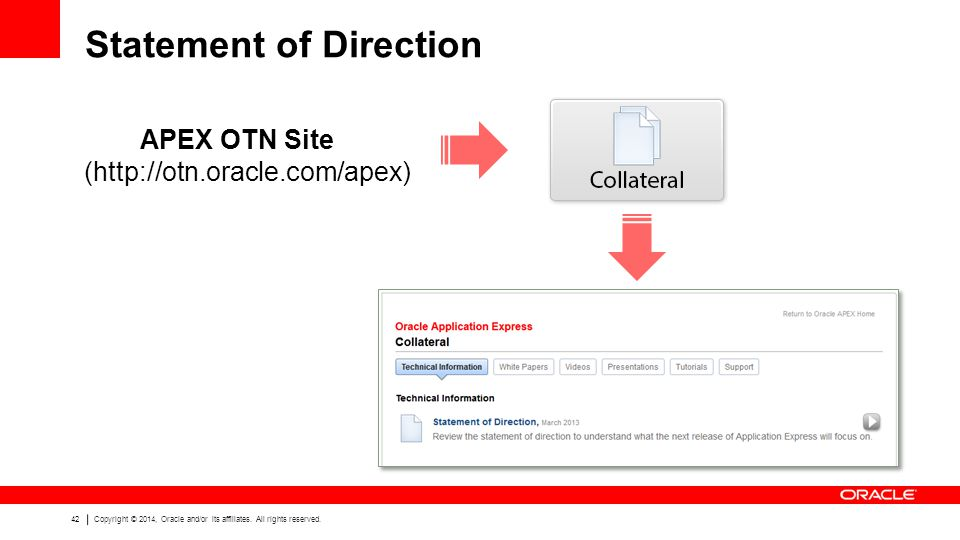 42 Copyright © 2014, Oracle and/or its affiliates.