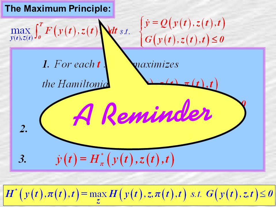 3 The Maximum Principle: A Reminder