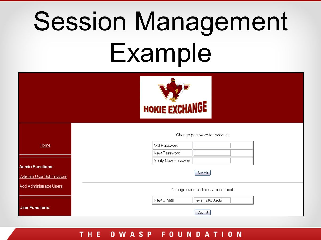Session Management Example