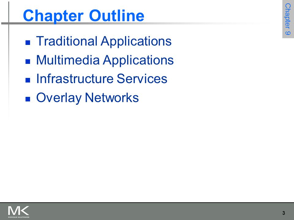74 Chapter 9 Overlay Network Routing Overlays Suppose, however, you wanted to use a routing algorithm that commercial router vendors were not willing to include in their products.