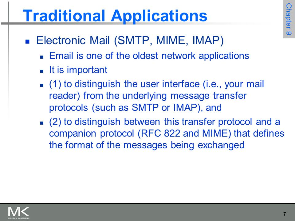 28 Chapter 9 Traditional Applications World Wide Web Response Messages Five types of HTTP result codes