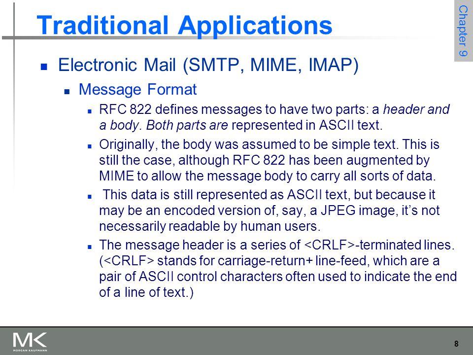 49 Chapter 9 Multimedia Applications SIP Establishing communication through SIP proxies.